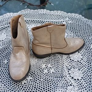 Childs Place Cowgirls Gold Cowboy Boots Size 4